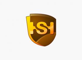 黑色汇供应链Logo设计