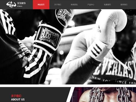 健身运动模板网站