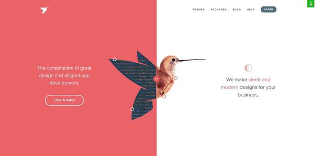 10个设计精美的网页设计中的分屏布局示例