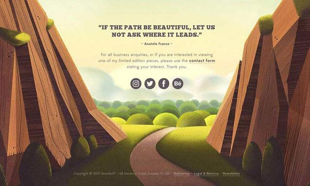 上海网站设计分享网页设计中的12个自然插图示例