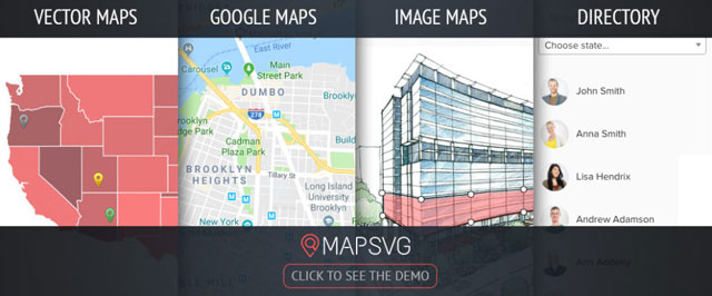 MapSVG WordPress地图插件