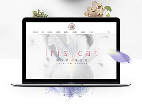某護膚品牌網頁設計