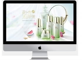 某護膚品新品網站建設