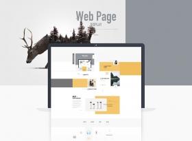 扁平化網頁平面設計樣式