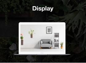 植物網頁平面設計樣式
