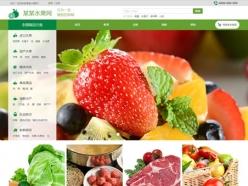 水果综合商城网站建站模板