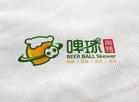 啤球串烤logo设计